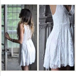 Free People Reign Over Me Lace Embroidered Dress